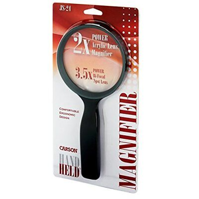 Carson HandHeld Compact 2x Magnifier with 3.5x Spot Lens