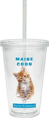 (470ml Twist Lid Straw, Maine Coon) - Culver Keith Kimberlin Insulated Plastic