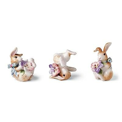 Halcyon Collection, Bunny Tumblers, Set of 3. Fitz and Floyd. Best Price