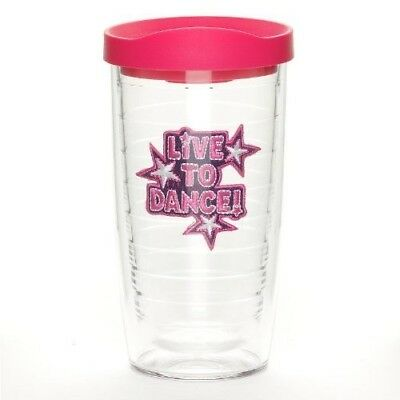 Tervis Tumbler with Fuchsia Lid, 470ml, Live to Dance. Free Shipping