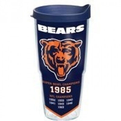 Tervis NFL Chicago Bears 8x Champs Wrap Tumbler with Navy Travel Lid, 710ml,