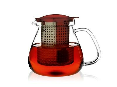 (Ruby Red) - Finum Tea Control 1.0 with dark basket, ruby red. Brand New