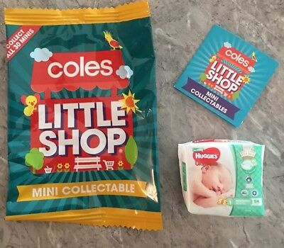 COLES LITTLE SHOP-HUGGIES NAPPIES ( For Ur Collection ?) EXPRESS FREE FAST POST