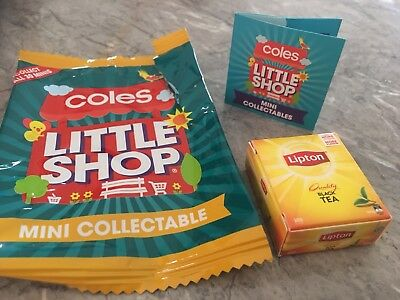 COLES LITTLE SHOP-LIPTON Black Tea (For Your Collection ?)EXPRESS FREE FAST POST