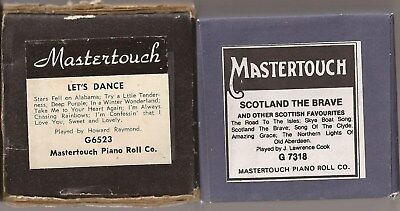 Pianola Rolls x 2 Mastertouch - Let's Dance + Scotland the Brave 14 tunes in all