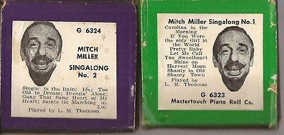 Pianola Rolls x 2 Mastertouch - Mitch Miller Singalong 12 well-known tunes