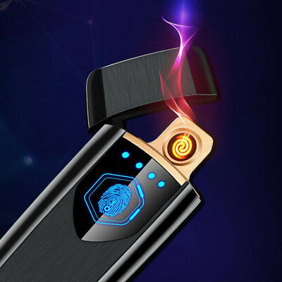 USB Charging Touch-senstive Switch Windproof flameless Cigarette lighters No gas