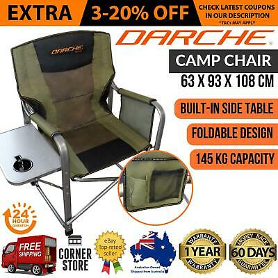 New Look Darche Dct33 Camp Chair Double Padded Foldable Camping Seat