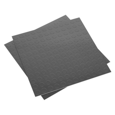 FT2S Sealey Vinyl Floor Tile with Peel & Stick Backing - Silver Coin Pack of 16