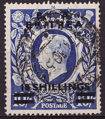 Great Britain Offices in Africa Eritrea Scotts #26, 10sh on 10sh used perfin  VF