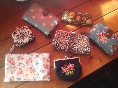 embroidered purse ,vintage tapestry purse,glasses case,bundle ,2 catch kidston