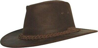 """Scippis - Bush Skins - Leather Hat """" Bushman """" Incl. Waterproofing Spray And"""