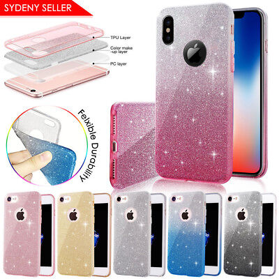 For Apple iPhone XR XS Max Extremely Sparkly ShockProof Bling Glitter Case Cover