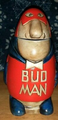Budweiser Vintage 1975 Bud Man CS1 beer stein hollow head by Ceramarte