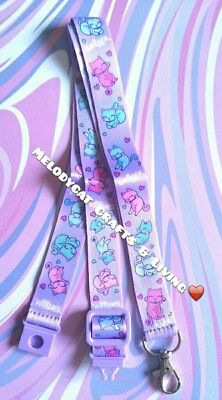 New! 💜 Smiggle Printed Lanyard, 45Cm, Lovely Cats
