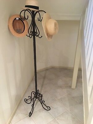 Wrought Iron Coat or Hat Stand