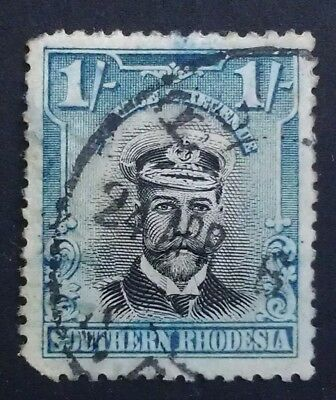 Southern Rhodesia 1924 1/- one 1 shilling 1s blue black  SG 10 SG10 captain
