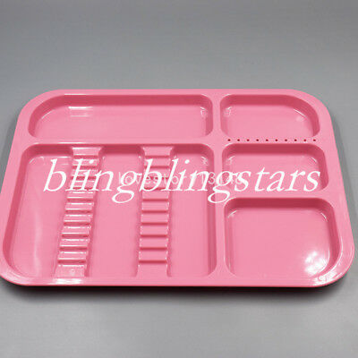 Dental Plastic Separate Divided Tray impact resistant Autoclavable 135°C+5Colors