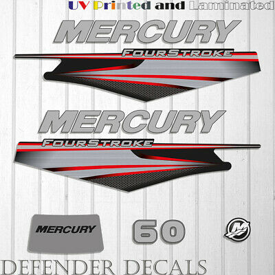 Mercury 60 HP Four Stroke EFI outboard engine decal sticker  kit reproduction