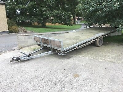 used flat bed trailers