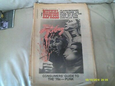 NEW MUSICAL EXPRESS NME october 1977 clash richard hell  bowie  guide to punk
