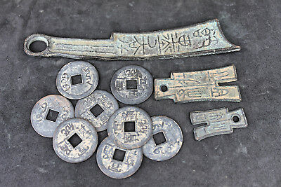 Ancient Chinese Knife and Spade coins bronze LOT D