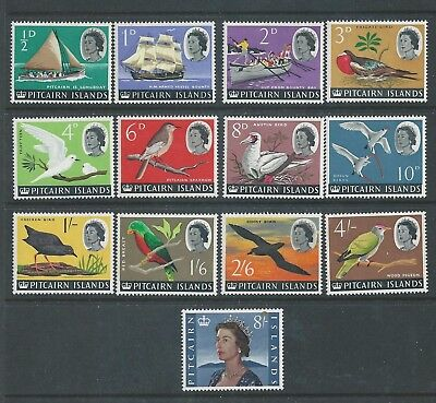Pitcairn Islands - 1964 Definitives - Complete Set - Lightly Mounted mint