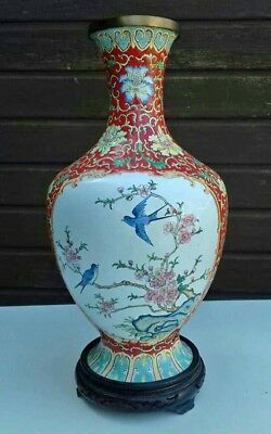 Antique  Chinese Canton enamel vase