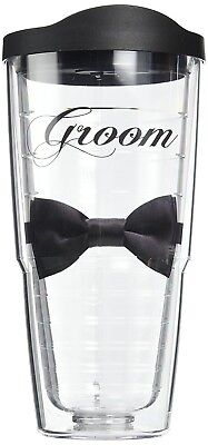 """Tervis """"Groom"""" Wrapped Tumbler with Black Lid, 710ml. Best Price"""