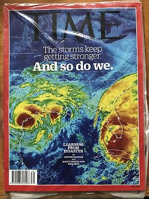 Rare Sealed TIME Magazine, The Storms keep getting Stronger, So Do We, Sept 2017
