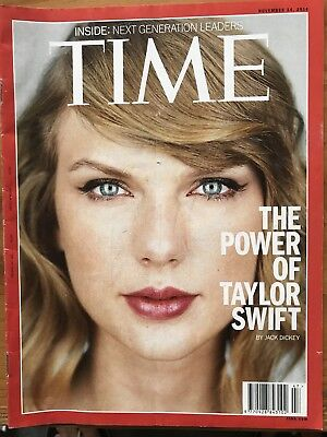 Rare TIME Magazine, The Power Of TAYLOR SWIFT, Pop Star, Generation Leaders,2014