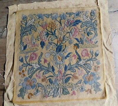 Vintage (Good Size) Tapestry And Petit Point 'louis X1V' Panel, 51 X 54 Cm