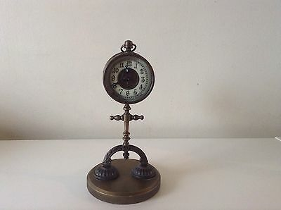 Antique Vintage American Ansonia Figural Street Light Novelty Mantel Clock Rare