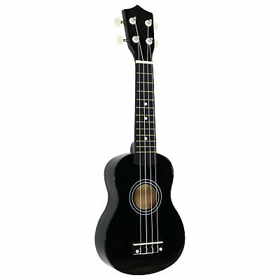"NEW! Black 21"" Soprano 4 String Ukulele with Carry Bag"