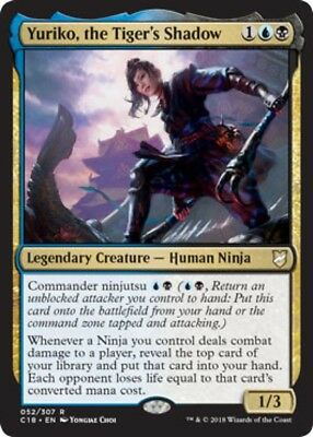 Yuriko, the Tiger's Shadow (052/307) - Commander 2018 - Rare
