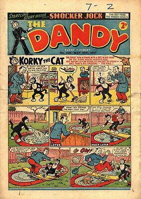 Dandy #495  May 19th 1951  FAIR condition.