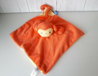 The Gro Company Orange Comforter Mikey Monkey Soft Hug  Toy Baby Comforter