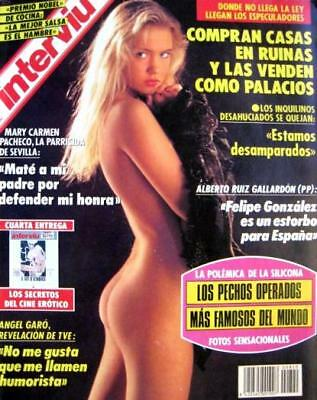 INTERVIU 820 / IRIS Great Pictorial + cover !!! SABRINA SALERNO 1 pic (nude)  EX