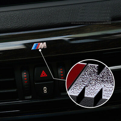 2Sets M Tech Performance Thin Alloy Car Interior Sticker Badge Decal For All BMW