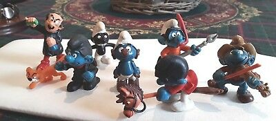 COLLECTION OF VINTAGE SMURF FIGURES PEYO - SCHLEICH 1970's 80's
