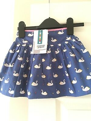 Mamas And Papas Baby Girl 12-18 Months Swan Print Skirt New With Tags