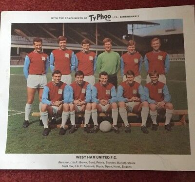 West Ham Colour Team Photo c1960's