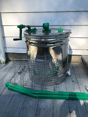 Stainless Steel Large 9 Frame Honey Extractor Manual Beekeeping Equipment -USED-