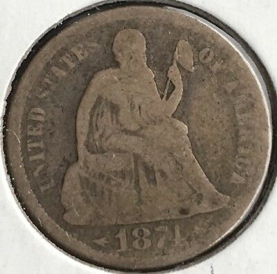 1874 & 1878 Philly Seated Dime Combo 10c