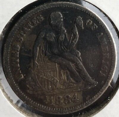 1882 - 1883 - 1884 Seated Liberty Dime Philly Group 10c