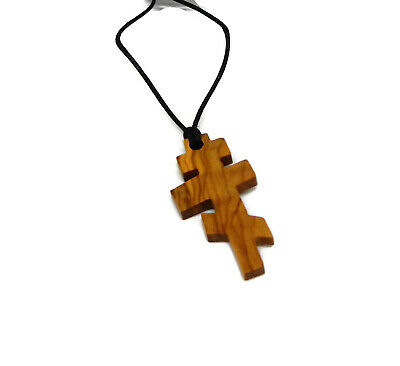 Russian Orthodox Eastern Christian  Olivewood Pendant Holyland HJW Top Quality