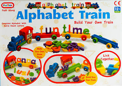 My First Alphabet Train Toy - Link Together Make Your Name