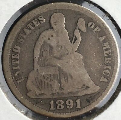 1891 - 1891 s - 1891 o  Seated Liberty Dime Group 10c