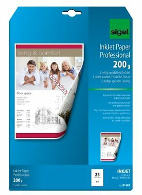 Sigel IP681 InkJet Paper, two-sided coated, bright white, for double-sided print