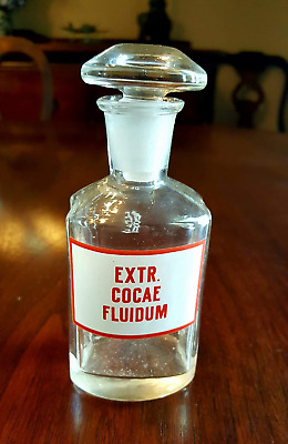 RARE!  Extract of Cocae Fluidum Apothecary Bottle
